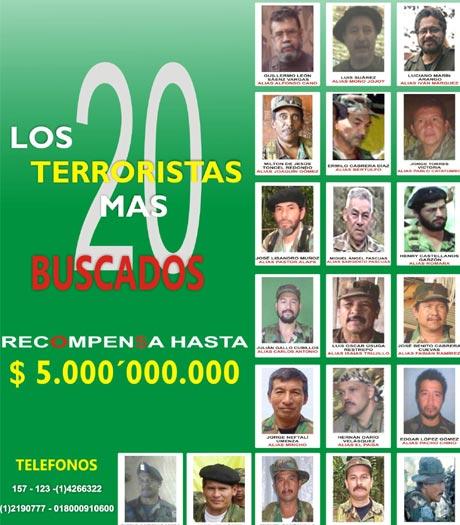 Fotos de los colombianos mas buscados 80