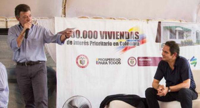 El Presidente Santos y el Ministro Germán Vargas Lleras, les darán excelentes noticias a los antioqueños. Foto: MVCT.