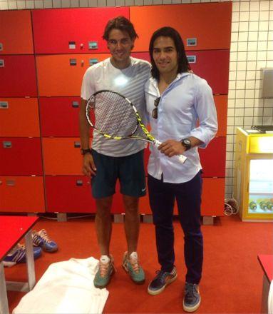 ¿Cuánto mide Rafa Nadal? - Altura - Real height Falcao-y-nadal