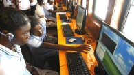 Colombian students learn how to use computers in the ship 'El Navegante del Pacifico' in the port city of Tumaco