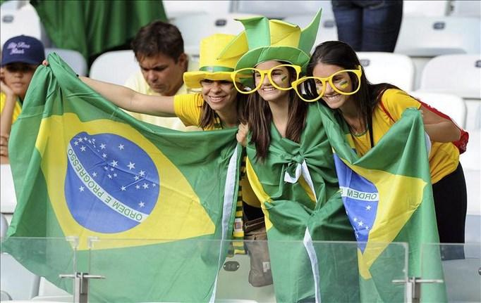 Aficionados de la selección de Brasil. EFE