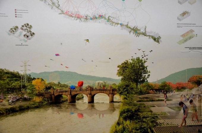 Jóvenes arquitectos paisas ganadores del Diseño Parque del Río