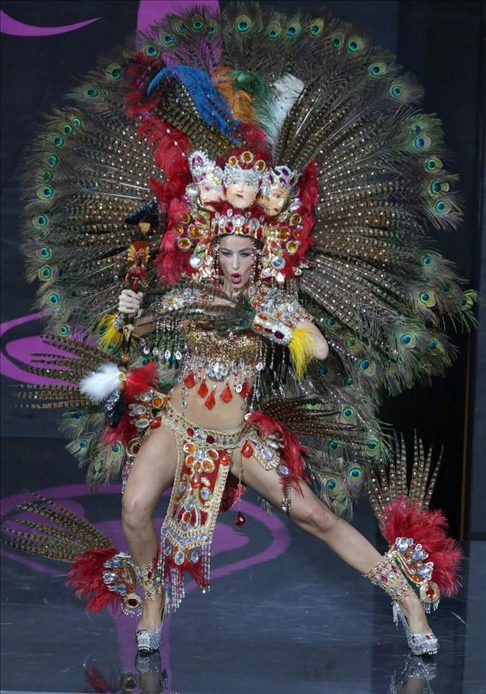 Miss Nicaragua ganó el Mejor Traje Típico, con vestido diseñado