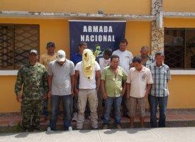 mineria ilegal El Bagre: Capturados 10 sujetos dedicados a la minería ilegal, 3 de ellos extranjeros