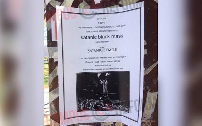 Invitación MIsa satánica en Harvard