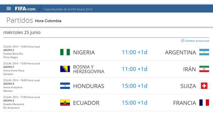 online para la venta oficial de ventas calientes venta al por mayor Los partidos del día 25 de junio, en horario colombiano