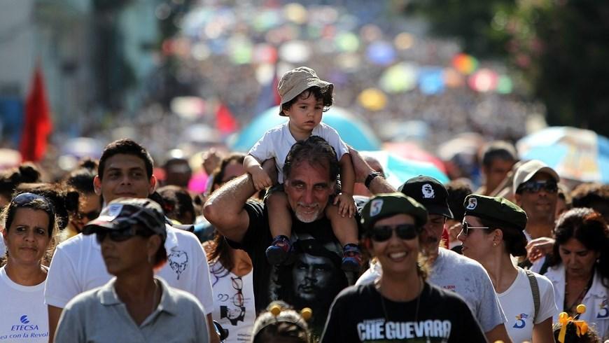Marcha en La Habana