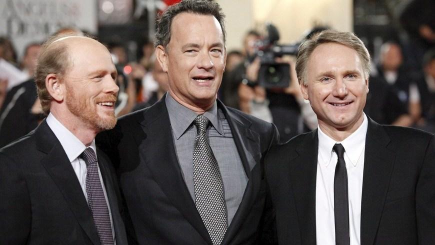 El director Ron Howard - EL actor Tom Hanks - El novelista Dan Brown. EFE/Archivo