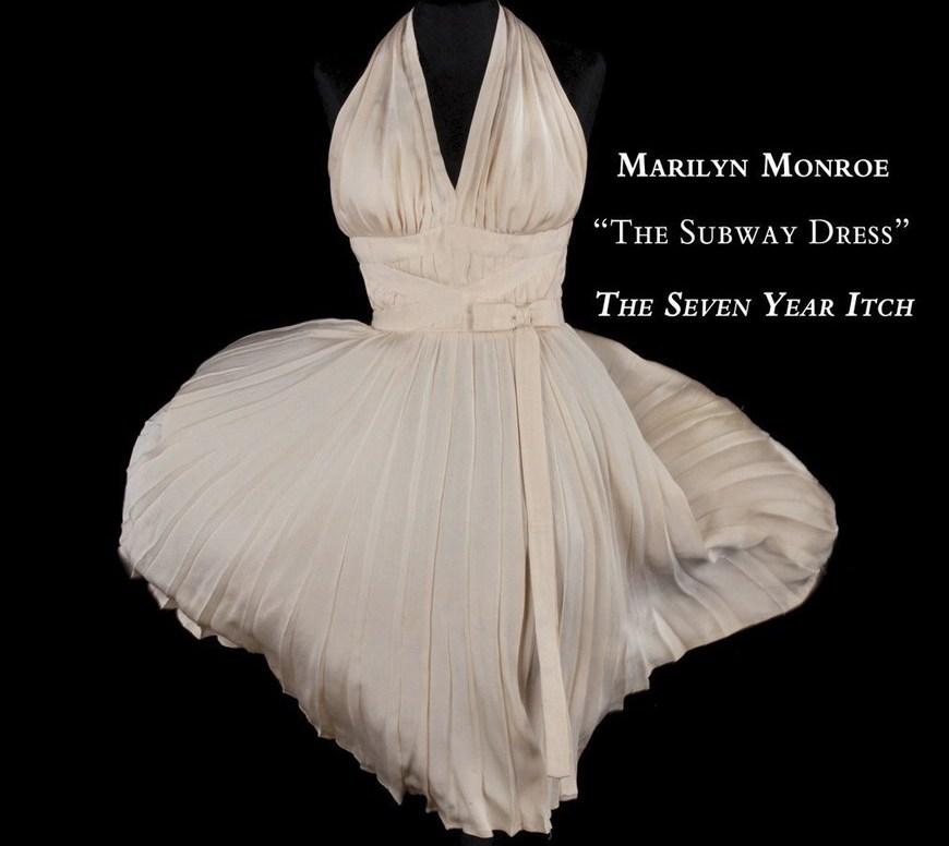 vestido blanco de Marilyn Monroe