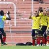 Jugadores de Colombia celebran un gol. EFE