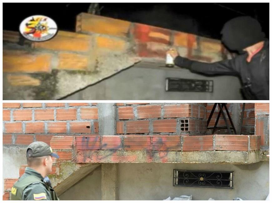 El antes y el ahora del lugar del supuesto patrullaje. Foto: Policía Metropolitana