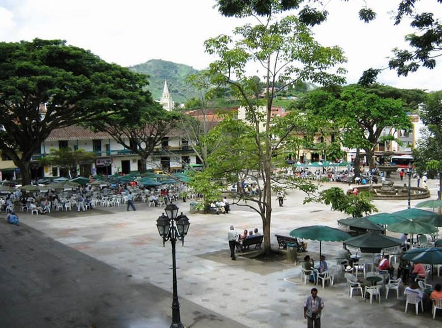 Parque de Andes, Antioquia. Foto Archivo