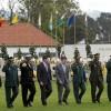 Presidente Juan Manuel Santos durante la ceremonia del aniversario 123 de la Policía.