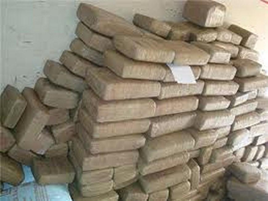 Marihuana incautada. Foto: Ejército