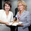 En la foto: La ministra de Comercio Exterior y Cooperación para el Desarrollo del Reino de los Países Bajos, Lilianne Ploumen (izq) durante un encuentro con la ministra de Comercio, Industria y Turismo, Cecilia Álvarez Correa. EFE