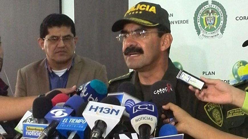 General Rodolfo Palomina, director de la Policía Nacional.