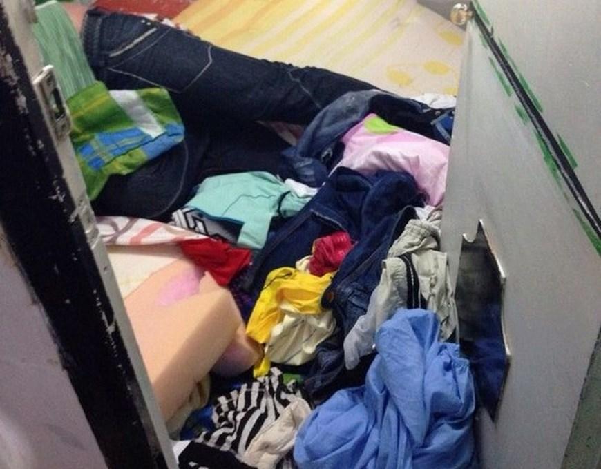 Así quedaron las celdas del patio 2 tras el operativo de control de anoche en Belalvista. Cortesía