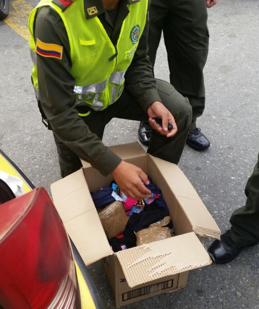 Captirada en la Terminal del Sur. Foto: Policía Metropolitana