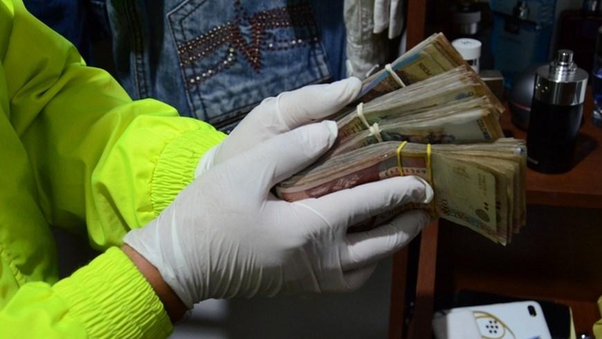 Dinero en efectivo incautado. Foto: Policía Metropolitana
