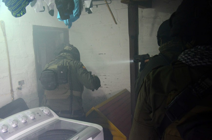 Operativo contra 'los Chatas'. Cortesía Policía Metropolitana