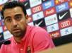 El centrocampista del FC Barcelona, Xavi Hernández, durante la rueda de prensa que ofreció en la Ciutat Esportiva Joan Gamper. EFE/Archivo