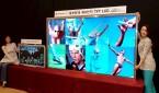 En la imagen, la nueva pantalla TFT-LCD de 100 pulgadas de LG Philips en su planta de producción de Paju, al norte de Seúl, Corea del Sur. EFE/Archivo