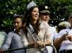 Miss Universo 2014, Paulina Vega Dieppa, es recibida hoy, viernes 1 de mayo de 2015, en su ciudad natal, Barranquilla. EFE.