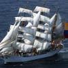 """El buque insignia de Colombia """"ARC Gloria""""."""
