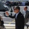 El presidente de Ecuador, Rafael Correa, recorre el Parque Bicentenario hoy, martes 30 de junio de 2015, en Quito, escenario en donde el Papa Francisco oficiará la misa campal del próximo 7 de julio, dentro de la visita del sumo pontífice a Ecuador, del 5 al 8 de julio, donde también tiene previsto ir a la ciudad portuaria de Guayaquil. EFE