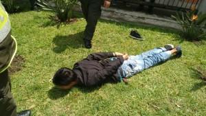 Uno de los capturados. Foto: Policía Metropolitana del Valle de Aburrá.