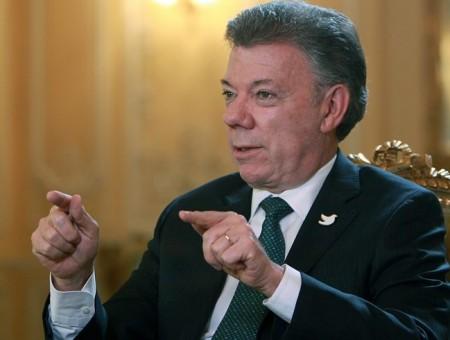 El presidente Juan Manuel Santos. Foto: EFE / Archivo.