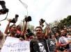Periodistas y organizaciones civiles del estado de Veracruz participaron en una protesta. Foto: EFE.
