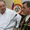 El ministro de Defensa de Colombia, Luis Carlos Villegas (i), participa en un reunión de Seguridad y Defensa con su homólogo de Venezuela, general Vladimir Padrino (d), hoy viernes 2 de octubre de 2015, en Santa Marta (Colombia). EFE.