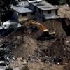 Vista panorámica del área del alud que arrasó con un asentamiento en El Cambray II y dejó 215 muertos, en Santa Catarina Pinula, Guatemala, este 8 de octubre de 2015, una semana después del suceso. EFE