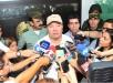 El ministro de Defensa Luis Carlos Villegas entregando declaraciones en Barranquilla. Foto cortesía: Hansel Vásquez