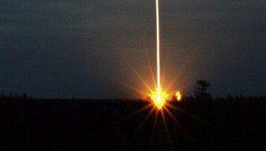 Imagen del lanzamiento del satélite Cryosat en el Cosmódrome ruso de Plesetsk, Rusia