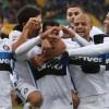 Los jugadores del Inter festejan un gol marcado hoy ante el Verona. EFE