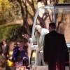 El papa Francisco a su llegada a la nunciatura apostólica anoche, en Ciudad de México (México). EFE