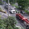Así se vivió la manifestación de camioneros en días pasados en Medellín. Foto: Archivo.
