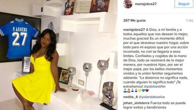 María Elena Bazán extraña a Pablo Armero