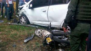 Imagen del accidente. Foto: Tomada de Blu Radio para ilustrar la noticia.