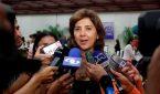 La canciller de Colombia, María Angela Holguín, (c) ofrece declaraciones a periodistas hoy, domingo 24 de julio de 2016, en La Habana (Cuba). EFE