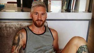 Lionel Messi y su nueva pinta.
