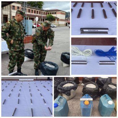 Ejército localiza depósito de explosivos del ELN