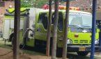 Máquina de bomberos de Girardota. Atención incendio.