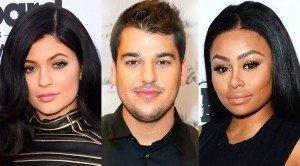Kylie Jenner, Rob Kardashian y Blac Chyna/ Tomada de Internet