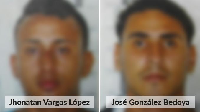 Jhonatan Vargas López y José González Bedoya