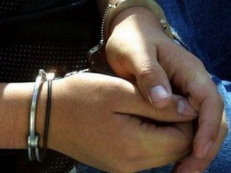 mujer capturada, detenida