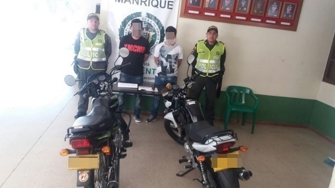 Capturados en Manrique.