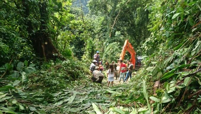 Detienen a dos personas en Cubarral, Meta, por construir una vía sin permisos